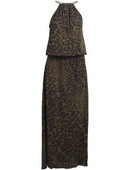 RABENS SALONER - Lexi Giant leo halter dress