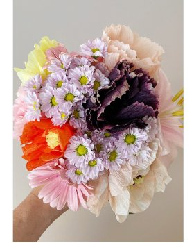 STUDIO ABOUT - Paper Flower Peony - Auburgine