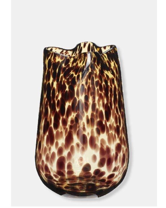 HÜBSCH  - Leopard Vase glas, ø19*h28